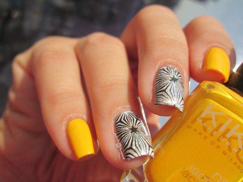 Sunny stamping nail art by Marina