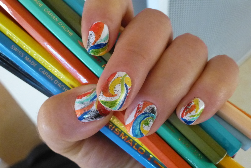 Barbouilleuse logo nail art by Barbouilleuse