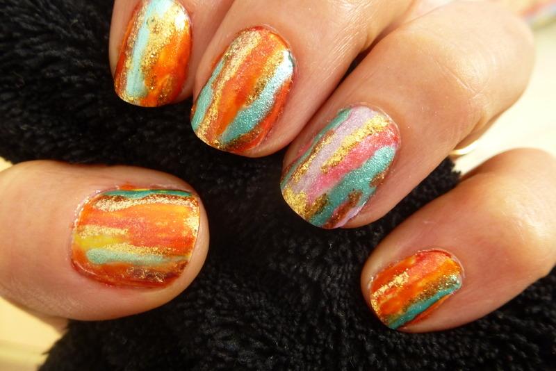 Paint pot nail art by Barbouilleuse