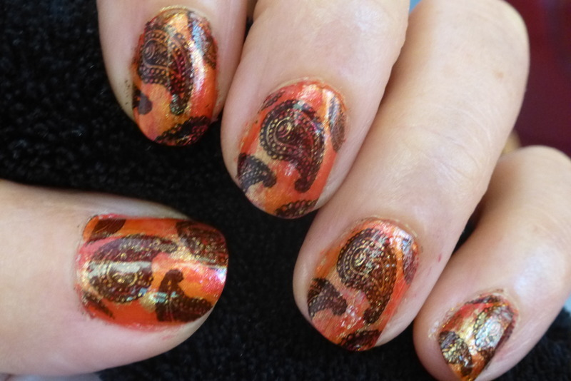 Cashemire nail art by Barbouilleuse