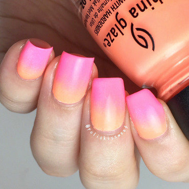 Neon Ombre nail art by PolishIsSweet