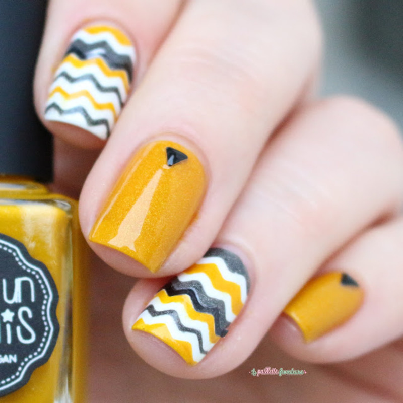 vitamine C nail art by nathalie lapaillettefrondeuse