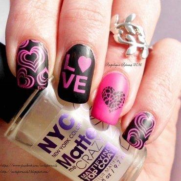 Valentine's Day Love  nail art by Angelique Adams