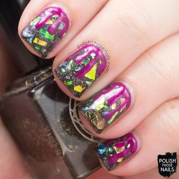 Shattered Drips nail art by Marisa  Cavanaugh