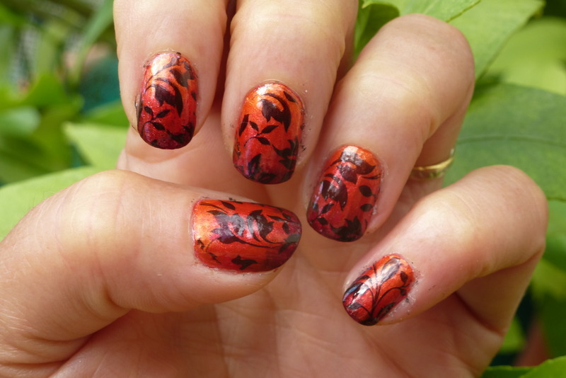 Fall nail art by Barbouilleuse
