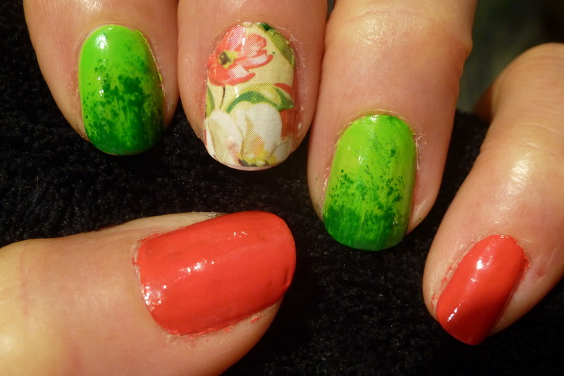 garden nail art by Barbouilleuse