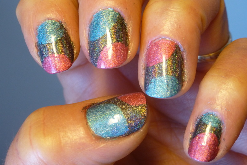 Tricolor nail art by Barbouilleuse