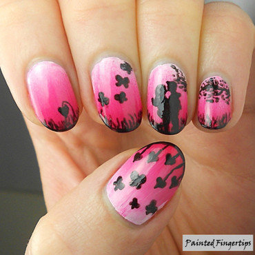 Lover's Gradient nail art by Kerry_Fingertips