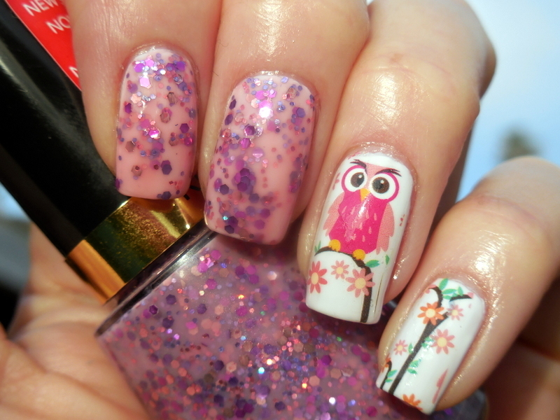 Owls nail art by Donner