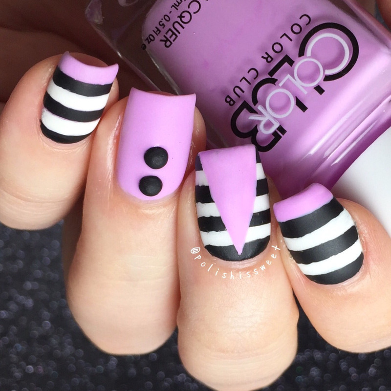 Stripes nail art by PolishIsSweet