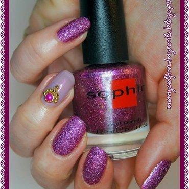 Pink sand nail art by ELIZA OK-W