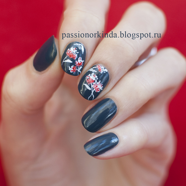 Floral fantasy nail art by Passionorkinda