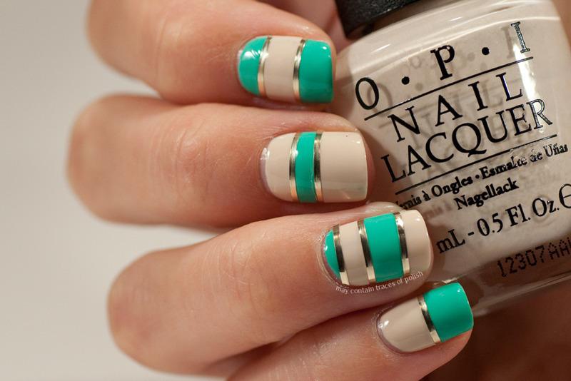 Color block nails nail art by Zara TracesOfPolish