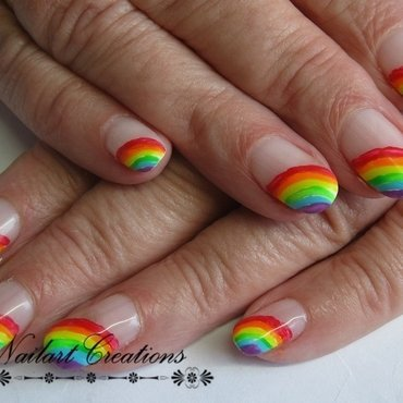Rainbows! nail art by Nailart Creations