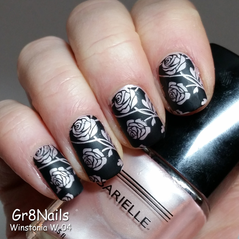 Roses in Winter nail art by Gr8Nails
