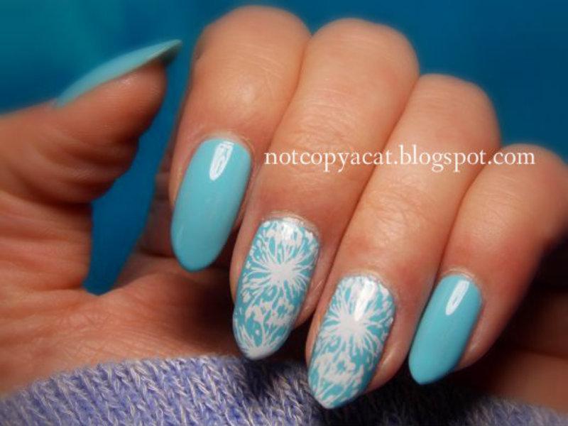 Dandelions nail art by notcopyacat
