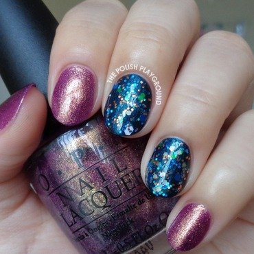 Golden 20purple 20with 20blue 20glitter 20layering 20nail 20art thumb370f