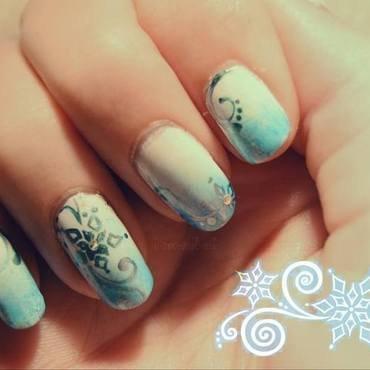 Winter Flower nail art by i-am-nail-art