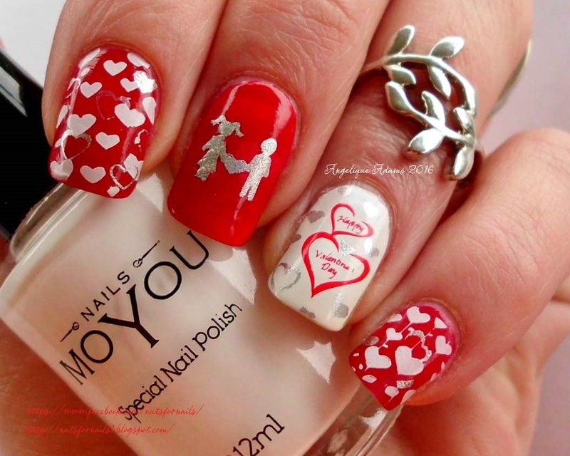 Classic Valentine's Day Nails nail art by Angelique Adams