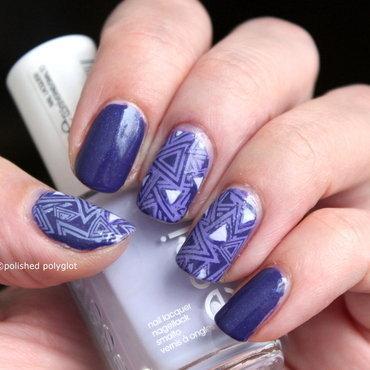 Purple Geometric design nail art by Polished Polyglot
