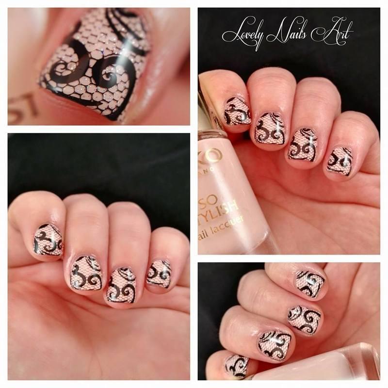 Nail art stamping *dentelle* nail art by Lovely Nail's  Art