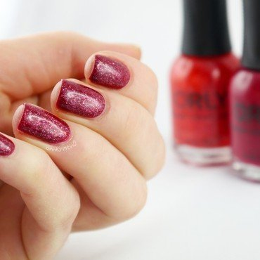 Orly Scandal and Orly 15 Minutes Of Fame Swatch by Ann-Kristin