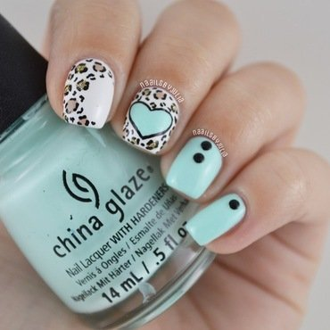 Leopard nail art by Julia