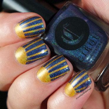 Sunny Holo nail art nail art by Jolin