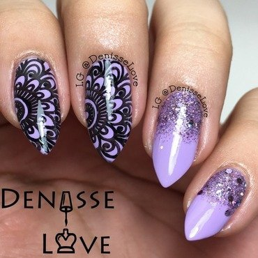 Purple Sparks nail art by Denisse Love