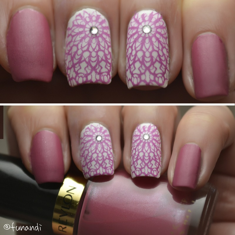 Lace nails nail art by Andrea  Manases