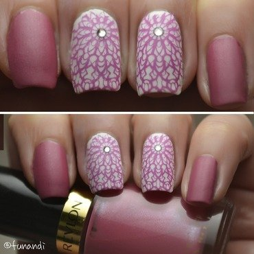 Lace nails nail art by Andrea  Manases