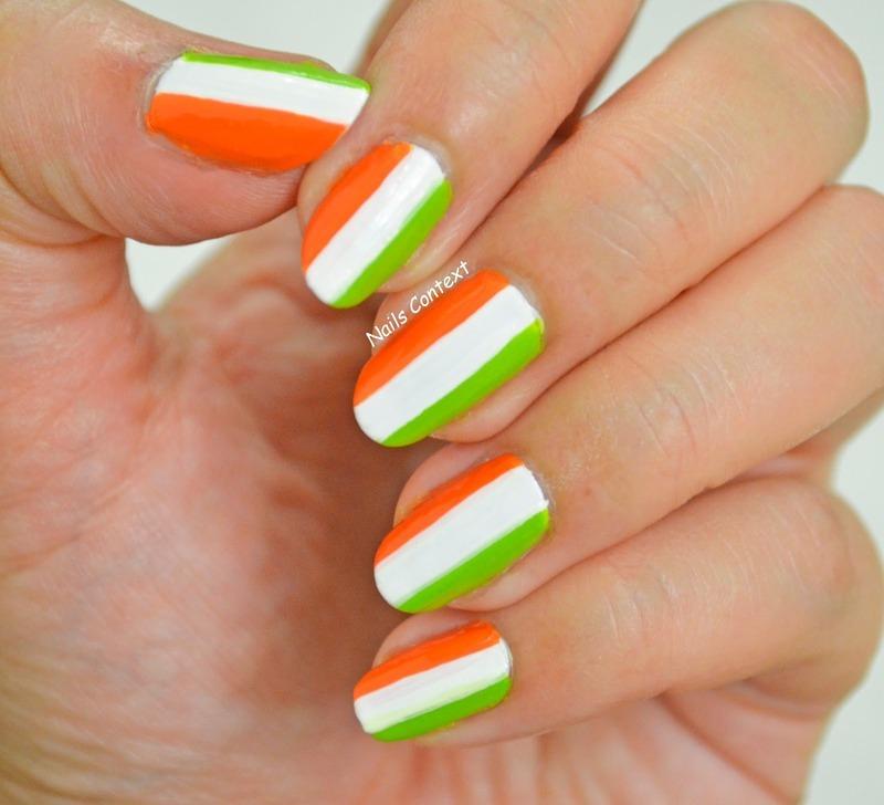 Indian Republic Day Nails nail art by NailsContext