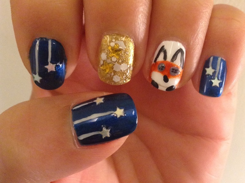 Le Petit Prince nail art by Idreaminpolish