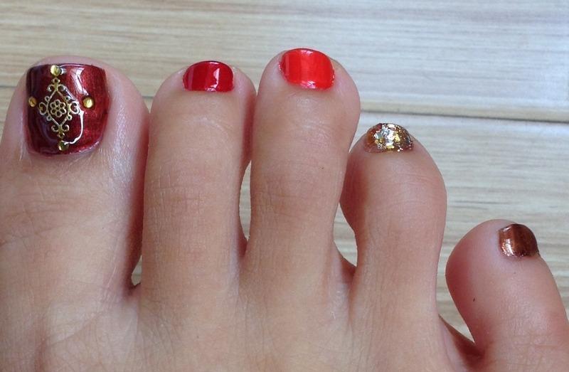 Fade to Autumn nail art by Idreaminpolish