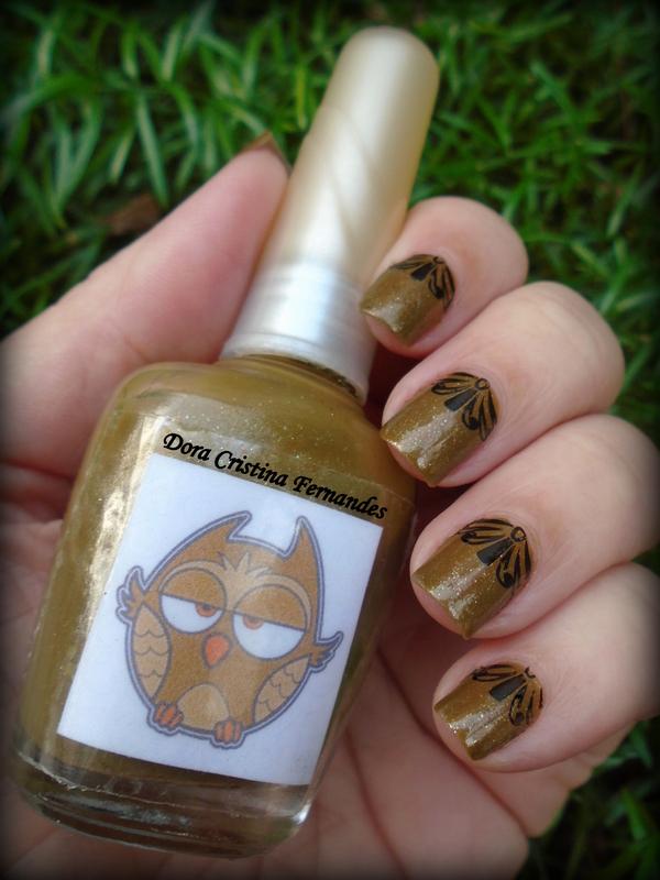 Owl Night Long nail art by Dora Cristina Fernandes