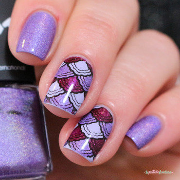 purple mermaid (original design by pearly whisper) nail art by nathalie lapaillettefrondeuse