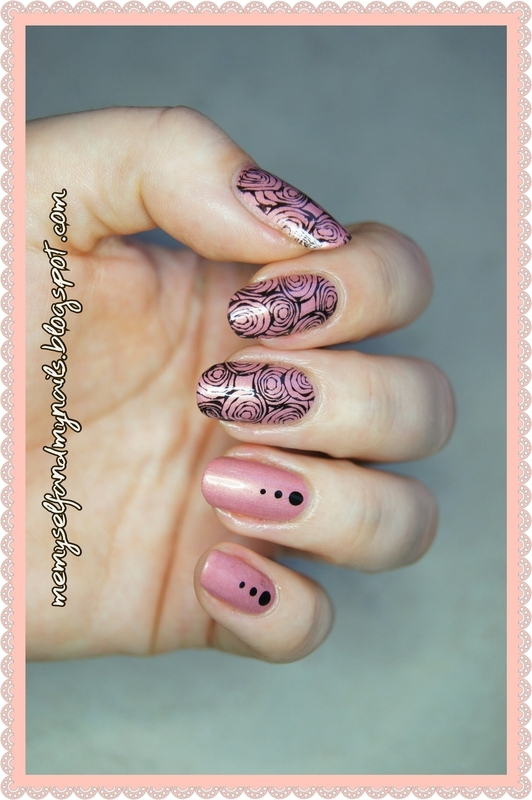 ABSTRACT ROSES nail art by ELIZA OK-W