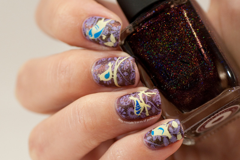 Bird manicure nail art by Zara TracesOfPolish