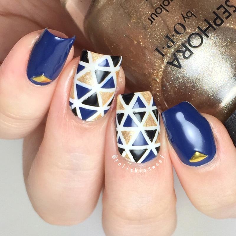 Geometric nail art by PolishIsSweet