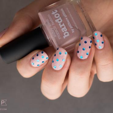 Manucure à paillettes : le retour du rose et bleu nail art by Kate C.