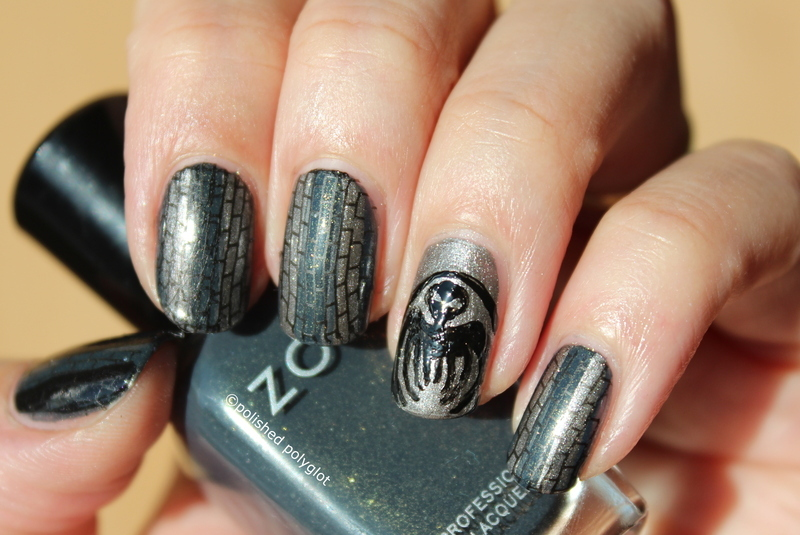 Inspired by a Film: James Bond Spectre  nail art by Polished Polyglot