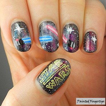 Star Wars nail art nail art by Kerry_Fingertips