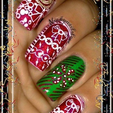 Christmas Gifts nail art by Nicky