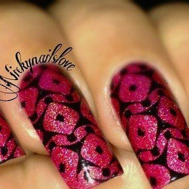 Reflection nail art by Nicky