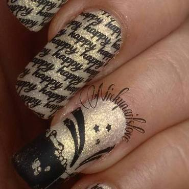 happy New Year nail art by Nicky