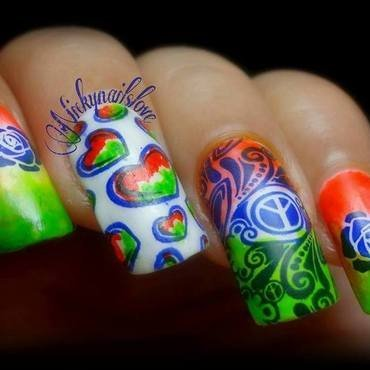 India's republic Day nail art by Nicky