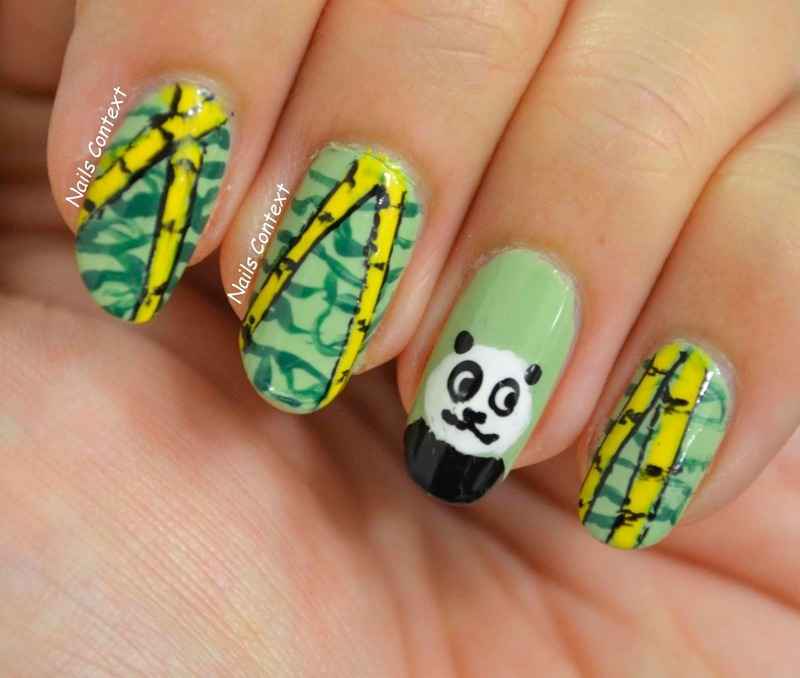 Panda Nails  nail art by NailsContext