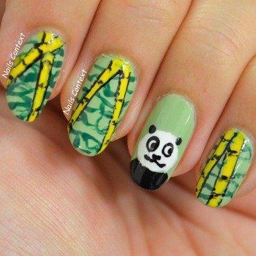 Panda Nails  nail art by NailsContext