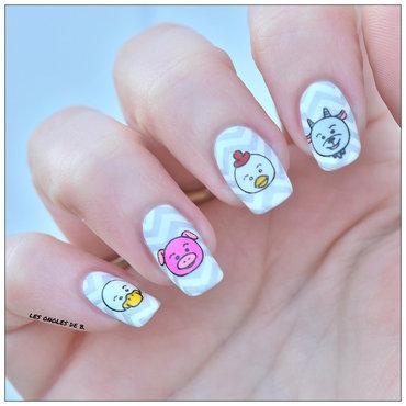 "Stamping master ""Original"" nail art by Les ongles de B."