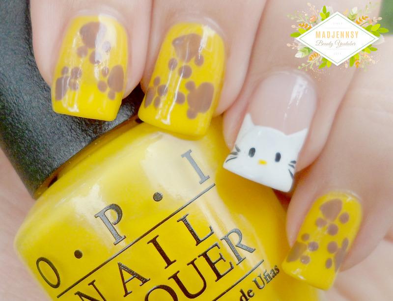 Hello Kitty Safari Plushie Nail Art  nail art by madjennsy Nail Art